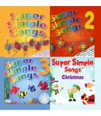 เพลงเสริมทักษะภาษาอังกฤษ Super Simple Songs Vol.1-4 (CD Mp3) ชุด 2 แผ่น รวม 103 เพลง