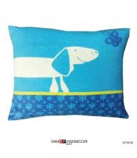 หมอนอิงลาย สุนัข น่ารัก สีฟ้า ขนาด 30x40 cm แบรนด์ David Fussenegger