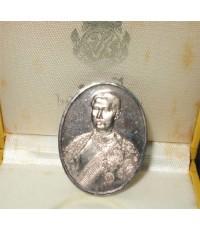 เหรียญรูปเหมือน ร.๕ รุ่น ๑๐๐ ปี ร.ร.วัดบวรนิเวศ ปี 36 เนื้อเงิน