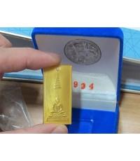พระพุทธนิรโรคันธราช  เนื้อทองคำ ฝังเพชรพลอยนพเก้า ทองคำ 22.98 กรัม พ.ศ.2538 พร้อมกล่องเดิม ๆ