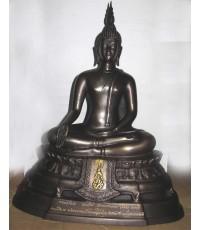 พระบูชา ภปร. 2508 หน้าตัก 5 นิ้ว วัดบวรนิเวศวิหาร เนื้อทองเหลือง รมดำ สวยมาก