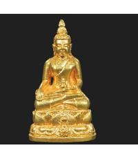 พระกริ่งไพรีพินาศ  ภ.ป.ร. เนื้อทองคำ พ.ศ.2535  รุ่นแรกของประเทศไทย ในหลวงเททอง (มีผู้เช่าบูชาแล้ว)