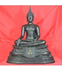 พระบูชา ภปร. ขนาดหน้าตัก 9 นิ้ว วัดบวรนิเวศวิหาร ปี 2508 หล่อดินไทย (ขายแล้ว)