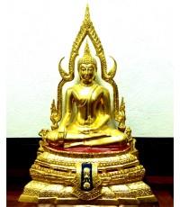 พระพุทธชินราช ภปร. ขนาดหน้าตัก ๙ นิ้ว วัดพระศรีรัตนมหาธาตุวรมหาวิหาร  ปิดทอง รุ่นบุรณะปฏิสังขรณ