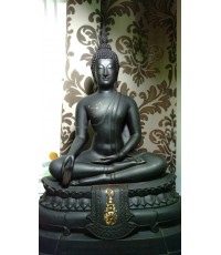 พระบูชา ภปร. 2508 วัดบวรนิเวศ หน้าตัก 9 นิ้ว (นิยม) หล่อดินไทย บล๊อคนี้ หายากสุด ๆ ณ เวลานี้