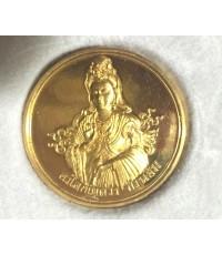 พระอวโลกิเตศวร (กวนอิม) พระเทพกวี (จุนท์ พรหฺมคุตฺโต) จัดสร้างในวาระครบวาระ ๕ รอบ เนื้อทองคำ งามสุด