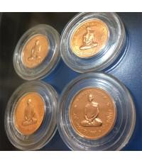 เหรียญทรงผนวช เนื้อทองแดง รุ่นสมโภชพระเจดีย์ วัดบวรนิเวศ ปี51 พร้อมตลับ 4 เหรียญ (เช่าบูชาไปแล้ว)