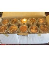 เหรียญทรงผนวช ในหลวงรัชกาลที่ 9 ขนาด 3 ซ.ม. จำนวน  100 เหรียญ รุ่นบูรณะเจดีย์ วัดบวรนิเวศวิหาร หายาก