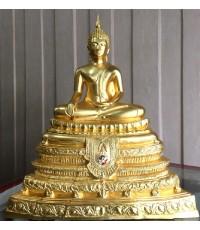 พระศาสดา หนักตัก ๙  นิ้ว  ปิดทอง จัดสร้างวาระครบ ๒๐๐ ปี พระจอมเกล้าเจ้าอยู่หัว จำนวน ๙๙๙ องค์ No.๕๕