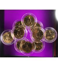 เหรียญทรงผนวช ในหลวงรัชกาลที่ 9 ขนาด 3 ซ.ม. จำนวน  10 เหรียญ รุ่นบูรณะเจดีย์ วัดบวรนิเวศ ราคาเบาๆ