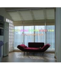 ม่านพับ 2 ชั้น ผ้าทึบ+ผ้าโปรง