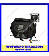 กระเป๋า SAPIENCE ติดหน้าแฮนด์ มีสีดำ-เทา