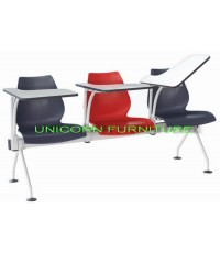 เก้าอี้โพลี แล๊คเช่อร์ แบบแถว ชนิด 2ที่นั่ง 3ที่นั่ง 4ที่นั่ง รหัส UN 807