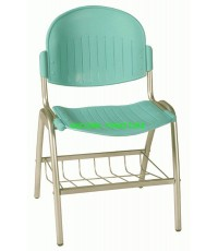 เก้าอี้ โพลีมีตะแกรงวางหนังสือ รุ่น UN-651