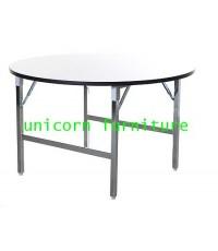 โต๊ะขาพับ โต๊ะประชุม Conference table โต๊ะหน้าขาว แบบกลม หนา 19มิล