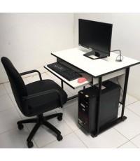 โต๊ะคอมพิวเตอร์ โครงดำ พร้อมที่วาง C P U รุ่น TC-6080-S