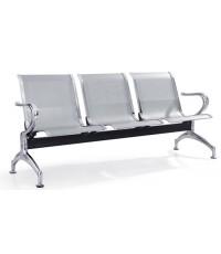 เก้าอี้แถวที่นั่งโครงเหล็กแผ่นปั้มขึ้นรูป ชนิด  3 ที่นั่งรุ่น UIM-008-3