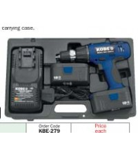 สว่านแบตเตอรี่ไร้สาย(13 mm.18V Cordless torque adjustable drill)/KBE-279