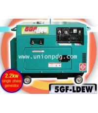 เครื่องปั่นไฟดีเซล เครื่องกำเนิดไฟฟ้าดีเซล แบบเชื่อมได้ 2.2 KW/5GF-LE