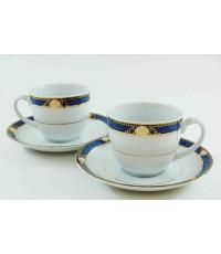 ชุดกาแฟเซรามิค ลาย Precious Blue จำนวน 2 ชุด