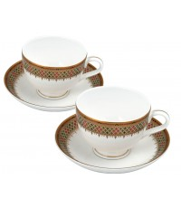 ชุดกาแฟ 2 ที่ ลาย Arunothai เนื้อ Royal Bone China