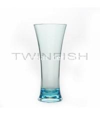 แก้วพลาสติกใสทรงสูงสีฟ้า