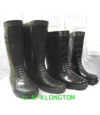 รองเท้าบู๊ท(ยางดำล้วนA-333คนดำยาว12นิ้ว)(ไฮเทคNO.858ยาว 14นิ้ว)
