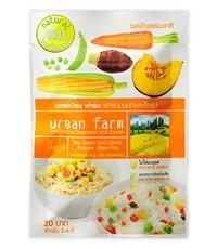 เออร์เบิร์นฟาร์ม ผักอบแห้ง สูตรเวจจี้ (Veggie) แพค 6 ซอง