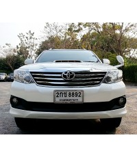 2013 TOYOTA FORTUNER 3.0V 2WD AUTO 5 SPEED สีขาว