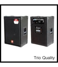ตู้แอมป์ TRIO ขนาด 15 นิ้ว 150W มีเทป รุ่น TR-150/101D
