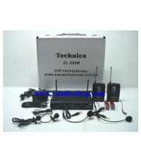 Wireless Microphone TECHNICA ZL-306M หนีบ2 คาด2 UHF