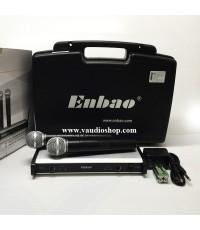 ชุดไมโครโฟนไร้สาย ENBAO EU-2832 ไมค์ลอยถือคู่
