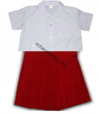ชุดนักเรียนอนุบาล หญิง สีแดง ตรา สมาร์ทSSเสมอ เบอร์3