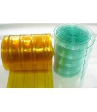 ม่านริ้วพลาสติกเหลือง กันกระแทก 30 cm หนา 3 mm