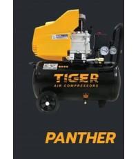 ปั๊มลมโรตารี่ไทเเกอร์ Tiger ขนาด 2.5 แรงม้า ถัง 25 ลิตร รุ่น ฺPANTHER-25