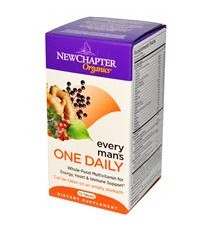 New Chapter, Organics, Every Man\'s One Daily, 72 Tablets