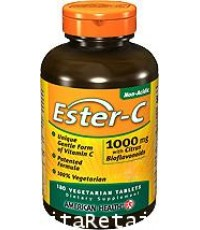 เอสเตอร์ซี Ester C 1000 mg with Citrus Bioflavonoids (Vitamin world 16984) 180 Tablets (พร้อมส่ง)