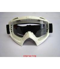 แว่นตาวิบาก RACING GOGGLE แบบ 2 สีขาว