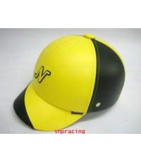 หมวกกันน๊อค nexttex หุ้มหนัง เหลือง-ดำ ลายตัวเอ็น คลิ๊กดูด้านในครับ(เลิกผลิต)