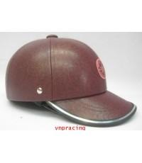 หมวกกันน๊อค nexttex หุ้มหนัง ลายALL STARสีน้ำตาล GEN3(เลิกผลิต)