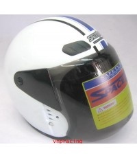 หมวกกันน็อค SPACE CROWN รุ่น EX series สีขาว  (สินค้าหมด)