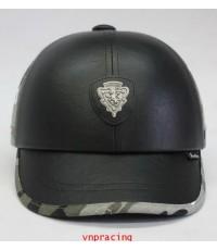 หมวกกันน๊อค nexttex หนังสลับลายทหาร ดำลาย 2012