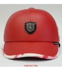 หมวกกันน๊อค nexttex หนังสลับลายทหาร แดงลายชมพู 2012 (เลิกผลิต)