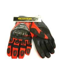 ถุงมือ SCOYCO รุ่น MC14 สีแดง(เคฟล่าแท้)