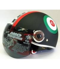 หมวกกันน็อค BM. รุ่น NEW MIO สีดำ ลาย47 (เลิกผลิต)