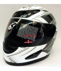 หมวกกันน็อค rider รุ่น Faster ลายขาว. (เลิกผลิต)