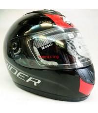 หมวกกันน็อค Rider รุ่น Vision R สีดำแถบแดง
