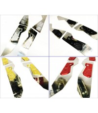 แผ่นวางเท้าอลูมีเนียม GTR สำหรับ N-MAX งาน CNC