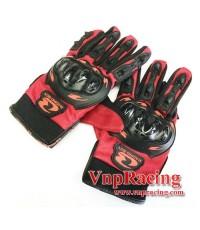 ถุงมือ RACING BOY รุ่น MC01 สีแดง