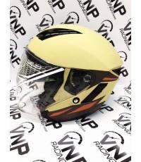 หมวกกันน็อคเปิดหน้า INDEX รุ่น ASTRO สีครีม ไซค์ L